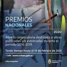 Convocatoria: Premios Nacionales a la Cultura